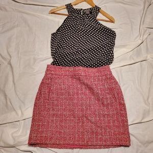 Banana Republic tweed skirt, Ann Taylor blouse